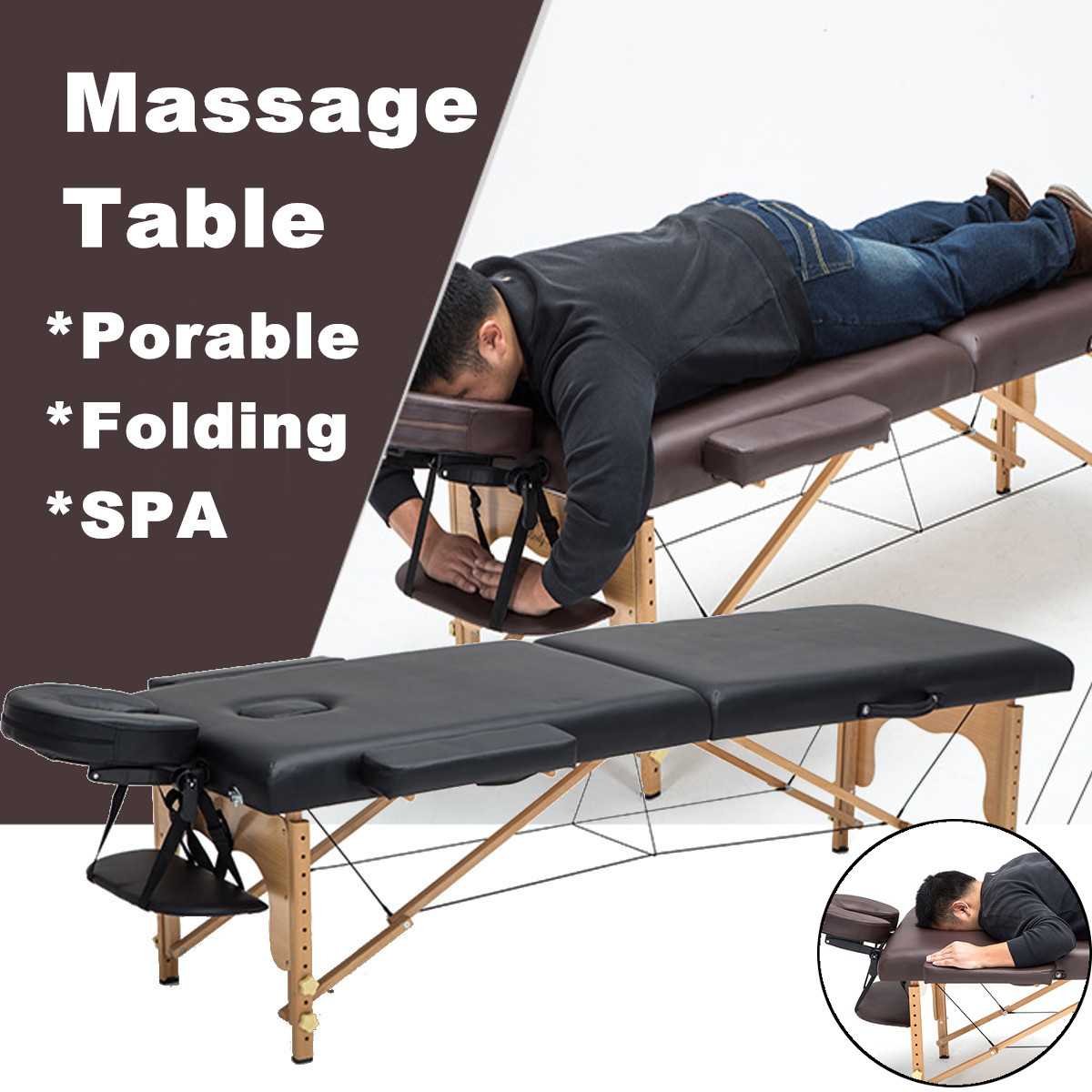 Multifunctional Portable Spa Massage Tables With Carrying Bag Salon Furniture Folding Sponge Bed Beauty Massage Table