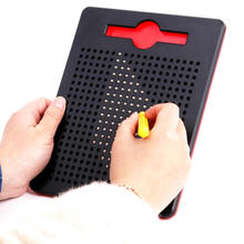 Hot Magnet Pad Drawing Board Pen Toys For Children Paint Ball Magnetic Tablet Beads Learning Notebook