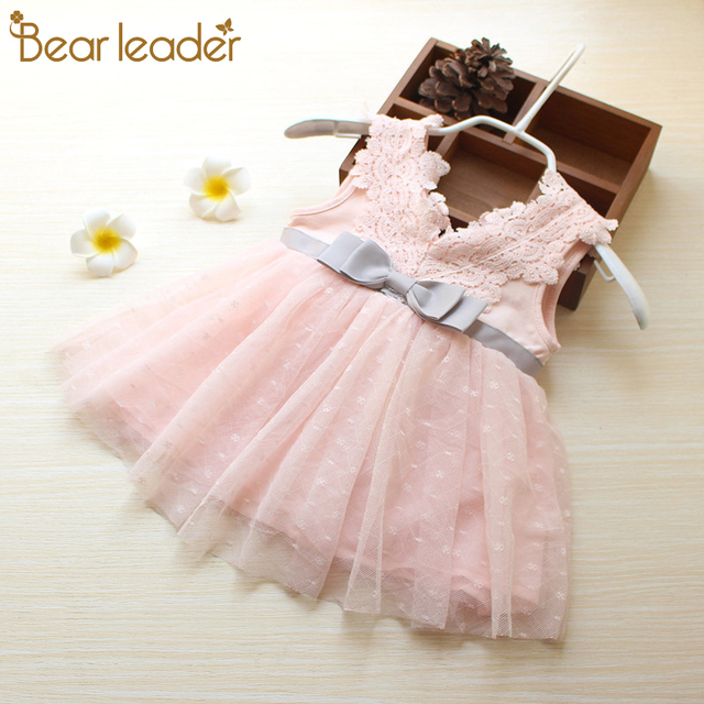 4acfef5bd20 Bear Leader Baby Dress 2018 New Summer Bohemian Style Lace Bow Patchwork  Tutu Dress For 0