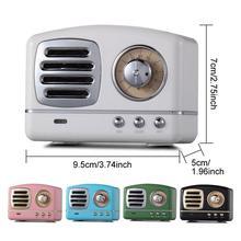 Easvita Retro Hifi estéreo Bluetooth V4.1 altavoz portátil inalámbrico Vintage incorporado micrófono soporte tarjeta de memoria r20
