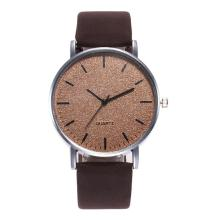 Simple Fashion Men Women Wristwatch Round Dial Number Free Quartz Faux Leather Band Wrist Watch Ladies Female Male Gifts Watches