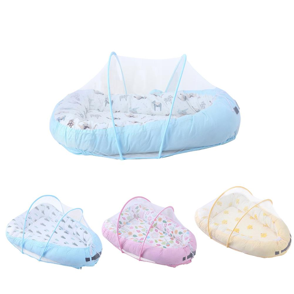 Baby Bassinet For Bed Lounger Breathable Hypoallergenic Cotton Portable Crib For Bedroom Travel