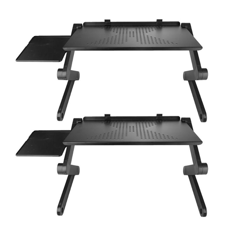 Adjustable Alloy Laptop Desks Portable Ergonomic Folding Computer Table Stand Foldable Desk Tray With Mouse Pad For CommercialAdjustable Alloy Laptop Desks Portable Ergonomic Folding Computer Table Stand Foldable Desk Tray With Mouse Pad For Commercial