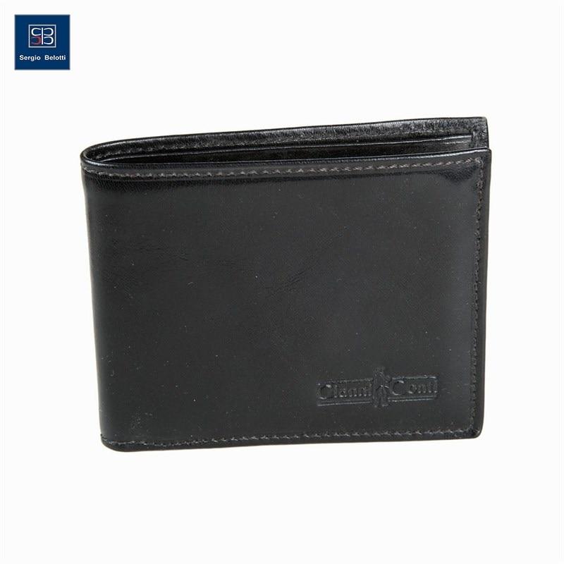Coin Purse Gianni Conti 907010 black aim vintage knitting pattern black wallets men brand design genuine leather wallet fashion credit card holder price coin purse