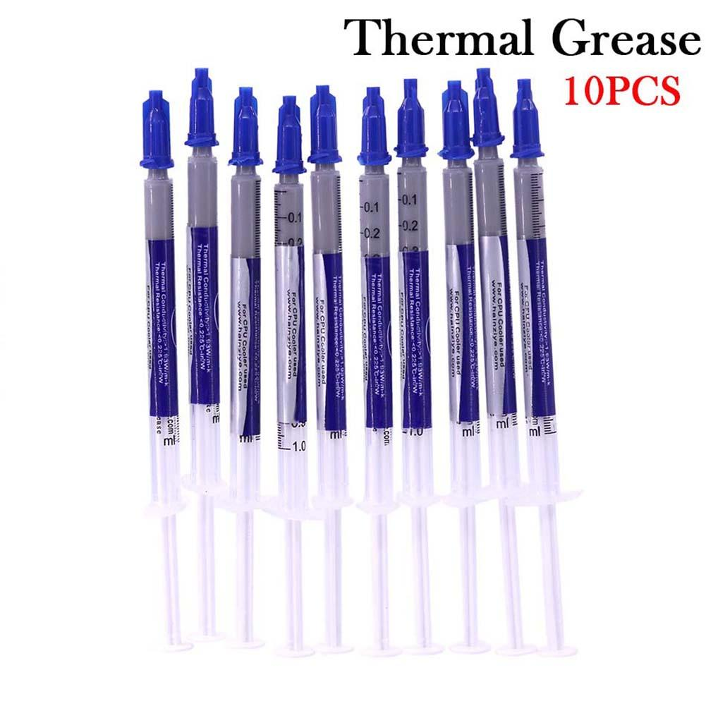 10pcs Compound Silicone CPU <font><b>GPU</b></font> Chip Heatsink Thermal Conductive Grease Paste Silicone Plaster image