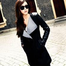 New Fashion Ladies Spring Wearing Cost Women Patchwork Slim Wool Coat Winter Spring Jacket Parka Outwear