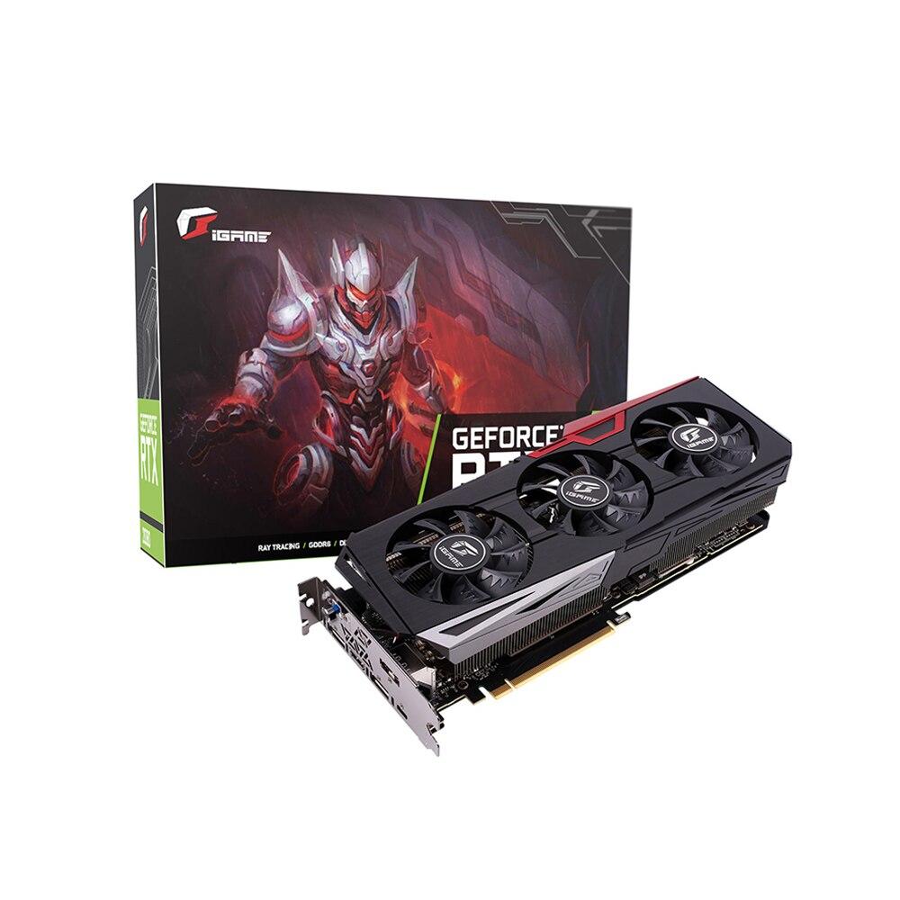IGame coloré GeForce RTX 2070 carte graphique Ultra GDDR6 8G carte vidéo 1410-1620Mhz PCI-E 3.0 pour PC Gaming