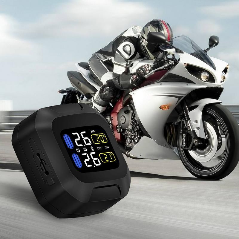 CAREUD M3 Moto sans fil TPMS moteur pneu Aotu alarme 2 capteur externe Moto TPMS capteur de système de surveillance de la pression des pneus