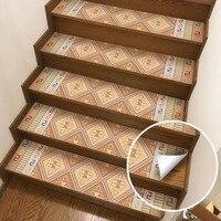 Arabic Style Staircase Sticker Step Sticker PVC Waterproof Self adhesive Indoor Anti slip Mat