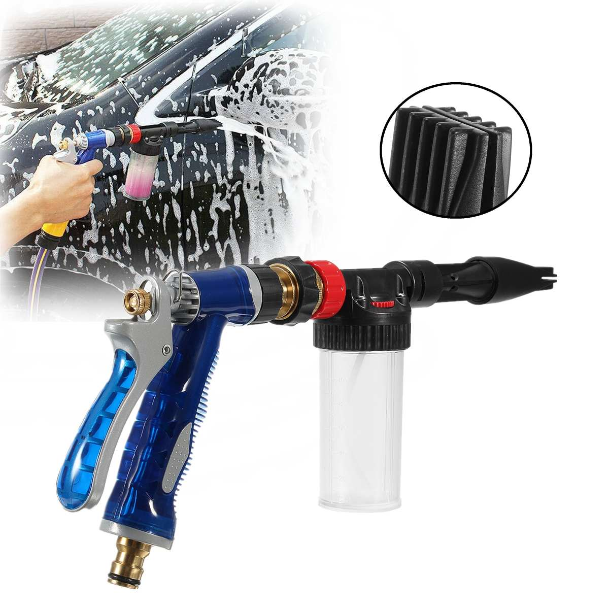 Adjustable 100ML Bottle Foam Lance Pressure Washer Car Wash Clean Spray Jet Multifunctional Professional Car Washer