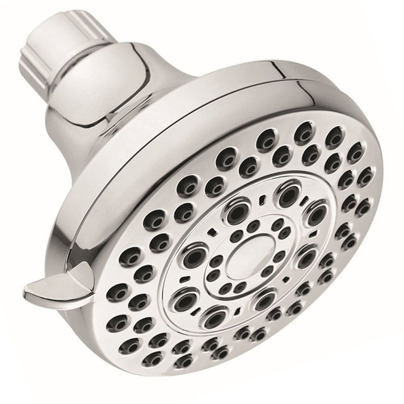 Wall Mounted Showerheads ABS Chrome Finish KC-SH134 Chrome Finish 4 Inch High Pressure Shower Head With 5 Mode Showering