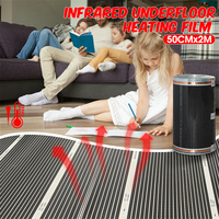 2pcs 1 Square Meter Infrared Floor Heating Film(No accessories), AC240V Floor Heating Film 50cm x 2m, Room Heater Good To Health