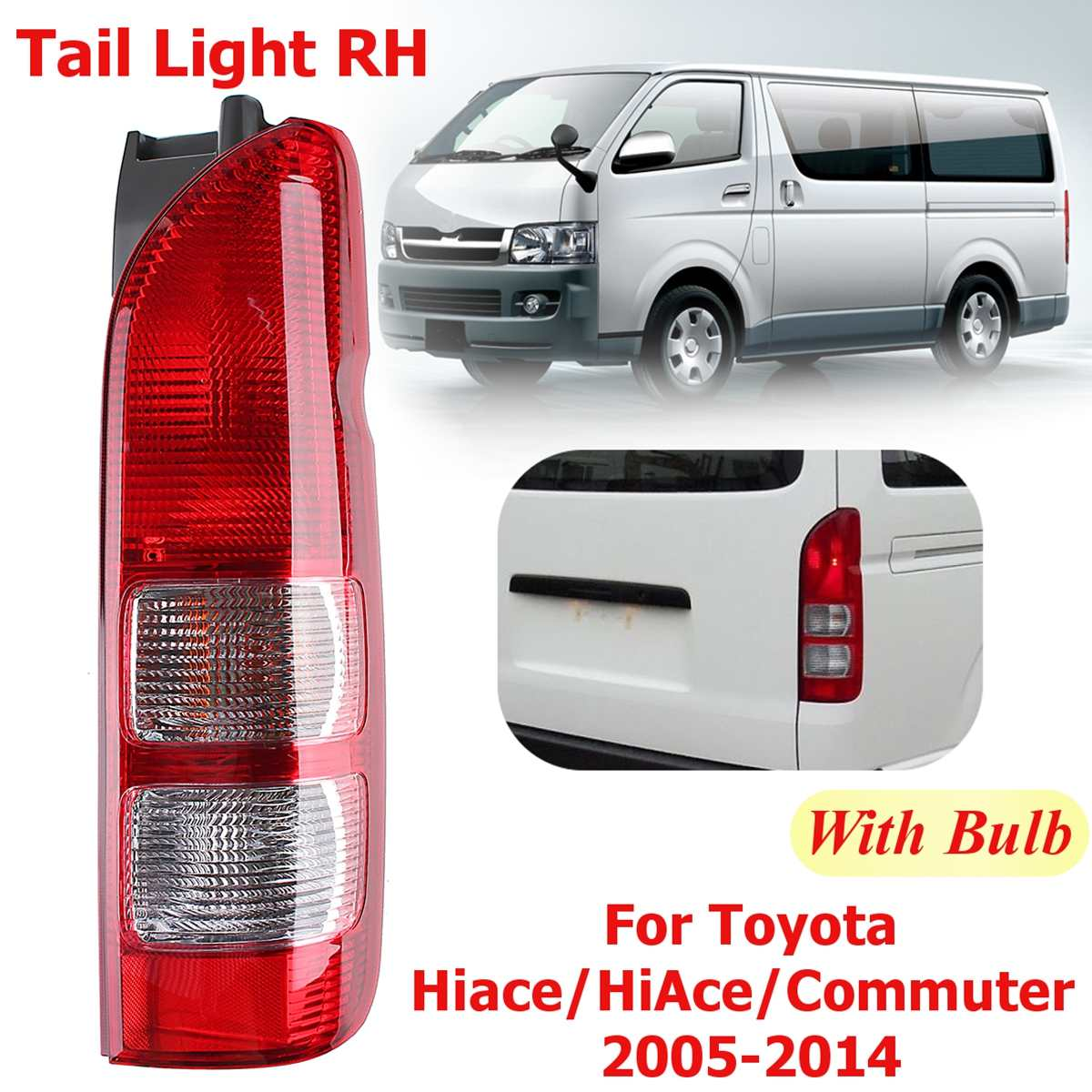 Car flashing pair Led tail lamp rear lights day light turn signal lighting for Toyota Hiace for Commuter 2005 2019 rear lighting