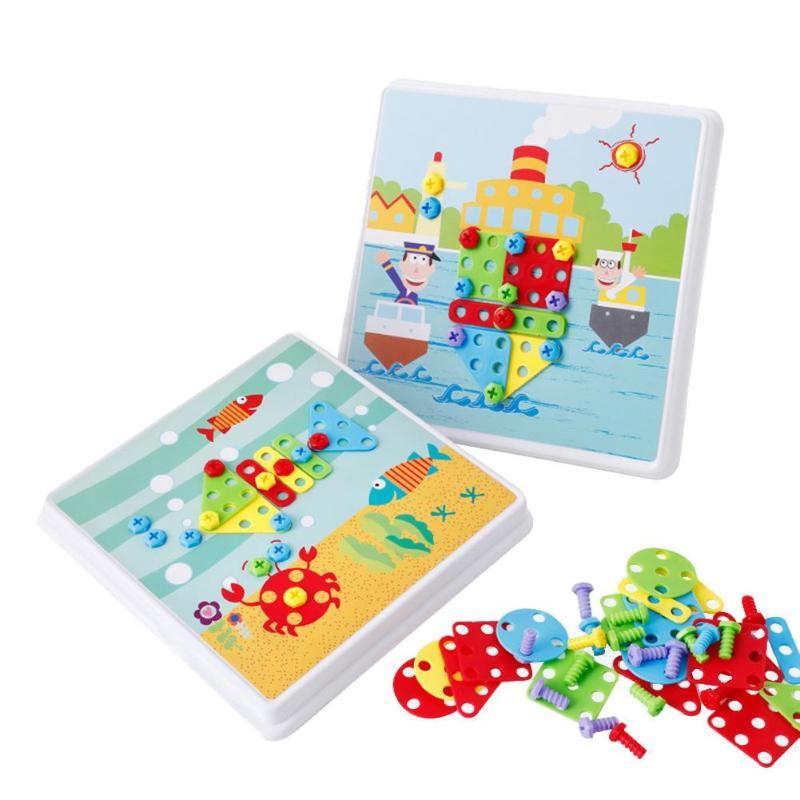 Kompetent 116 Stücke Kinder Elektrische Bohrer Mutter Demontage Spiel Werkzeug Montiert Block Set Pädagogisches Intellektuellen Gebäude Spielzeug ZuverläSsige Leistung