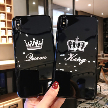 King Queen Cartoon Crown Phone Case for iPhone  Phone Cases