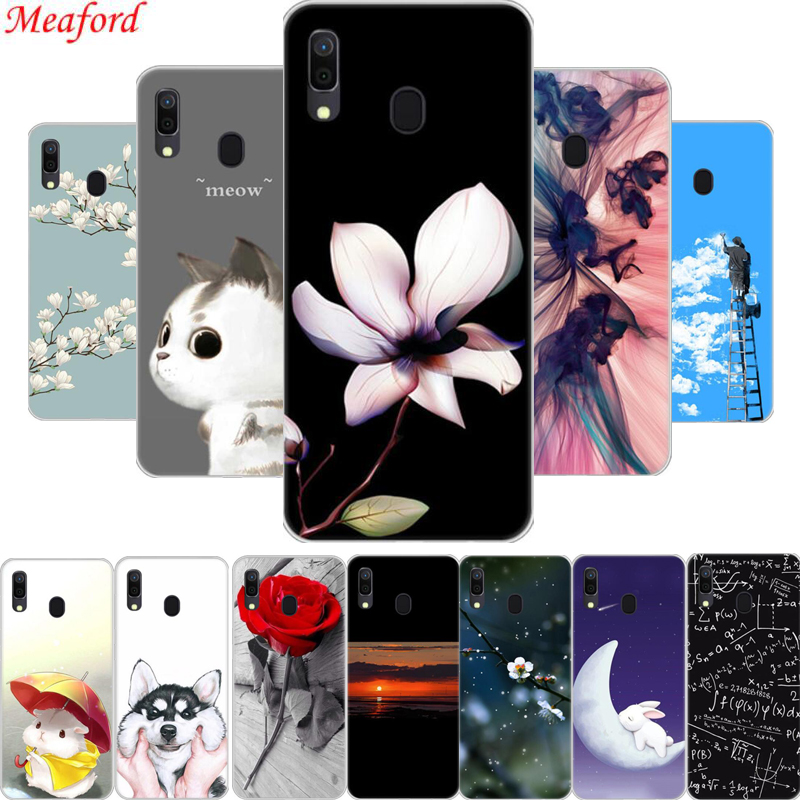 6.4'' Cover For Samsung Galaxy A20 Case Silicone Floral Cool Print Soft TPU Phone Case For Samsung A20 Case A 20 Coque Funda