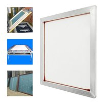 Screen Printing Aluminium Frame Stretched With White Silk Print Polyester Mesh 230 Yellow Mesh Count For Printed Circuit Boards