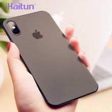 iHaitun Luxury 0.4mm Phone Case For iPhone XS MAX XR X Cases Ultra Thin Slim Transparent Back Cover For iPhone X 10 7 8 Plus Ful(China)