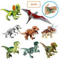 Juego de dinosaurios del Mundo Jurásico para niños, set de dinosaurio Pteranodon T.Rex, película Triceratops, miniaturas de bloques de construcción, juguetes, figuras, 8 Uds.