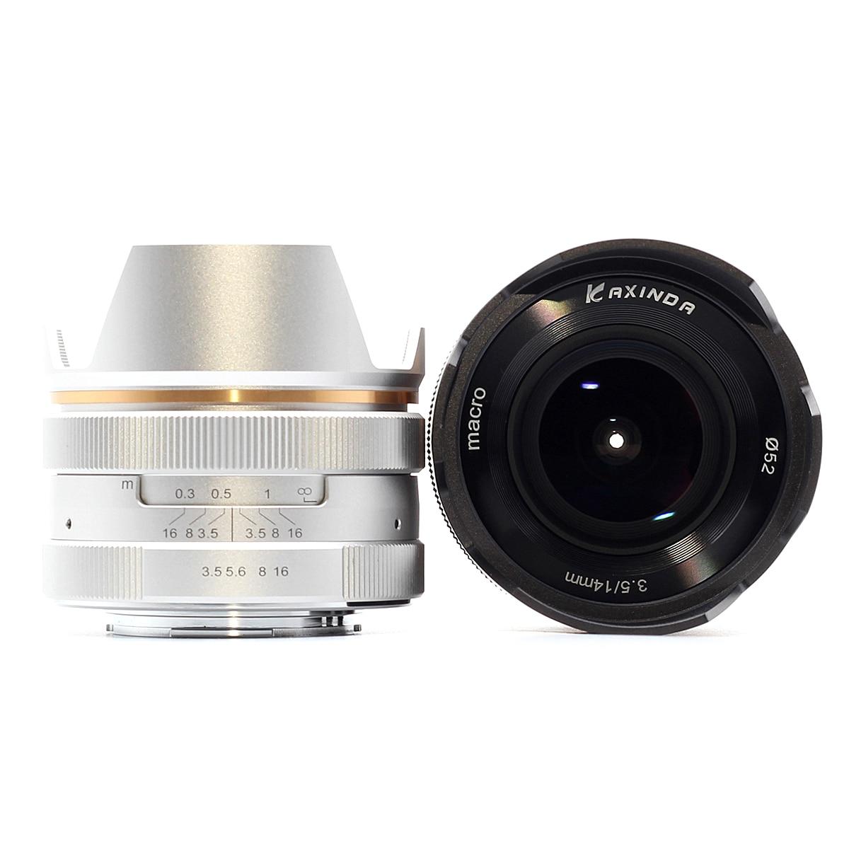 14mm f/3.5 Manuel lentille principale pour Sony Monture E NEX Canon EF-M EOS M Fujifilm FX X Olympus pansonic M43 MFT Micro4/3 14mm F3.5