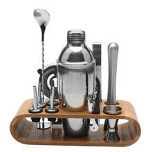 12 шт./компл. Нержавеющая сталь Ликер красное вино шейкер Бар Винный смеситель набор Бармен Коктейль ручной шейкер набор инструментов с держателем