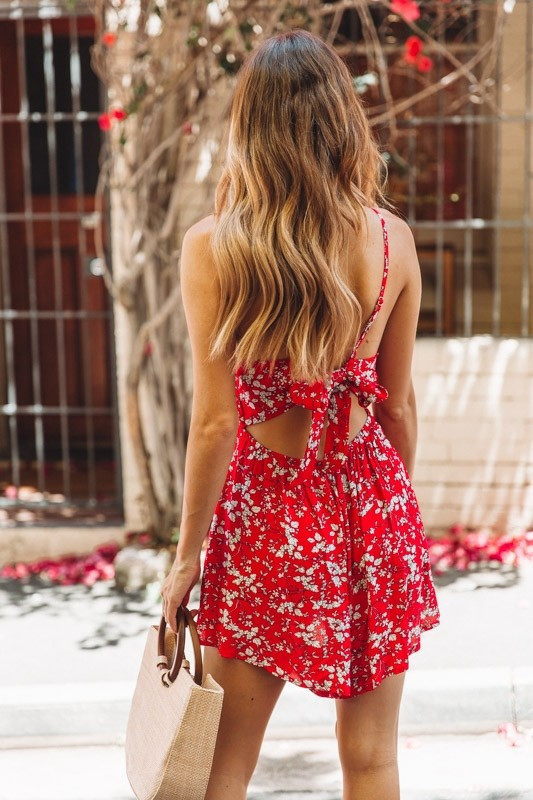 QIANYUER  boho floral print playsuit women backless vintage strap sexy summer jumpsuits womens rompers beach party overalls 2019