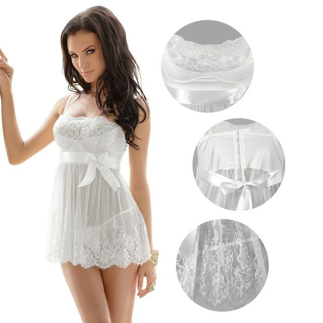 Sexy Women Erotic Plus Size Babydoll Dress Oversized Transparent Women Underwear Sexy Erotic White Lingerie For Sex 5XL 3