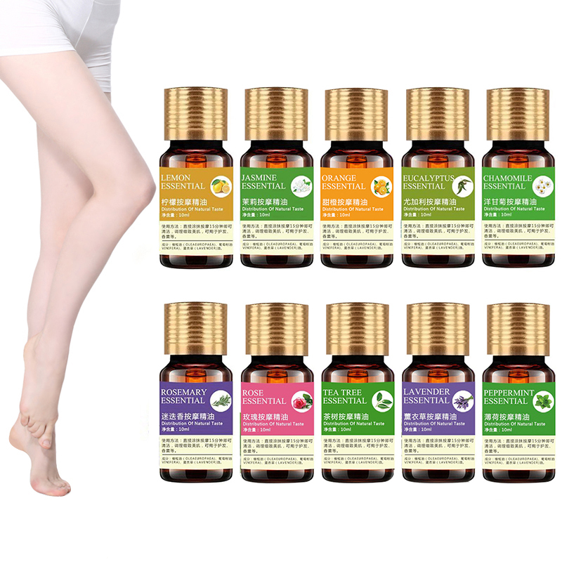 Wholesale 10ml Organic Essential Oils For Aromatherapy Diffusers Body Oil Relaxing Sleep Aid Aromatherapy Massage Oil  TSLM2