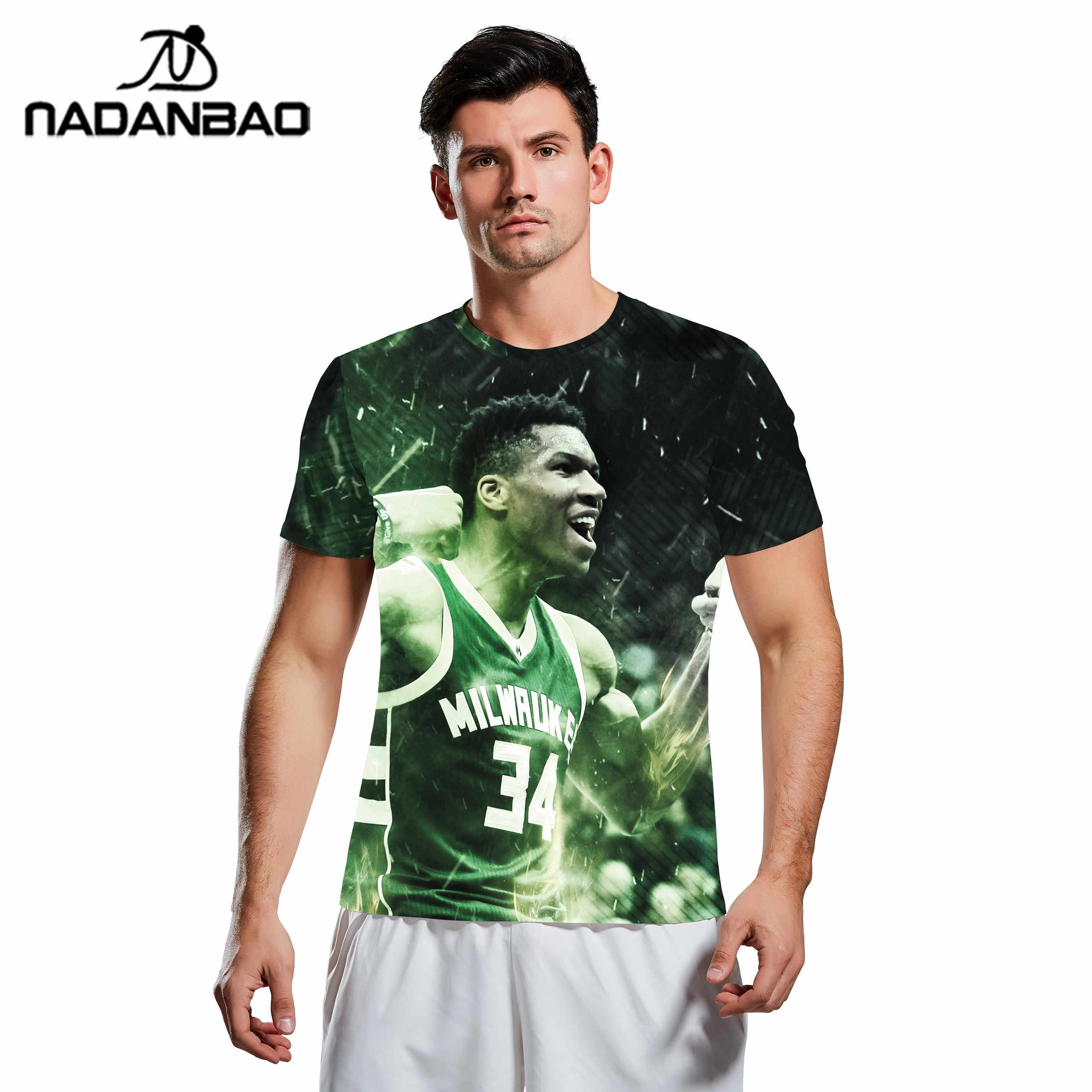 finest selection e1fbd e27bf NADANBAO Men Giannis Antetokounmpo 3D Digital Printed Tee Casual Tops MVP  Bucks Short Sleeve Basketball T Shirt Jerseys