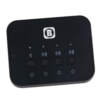 3in1 Bluetooth Music Audio Stereo Transceiver(Receiver+Transmitter) Adapter Hub Pair Three Devices Like Headphones