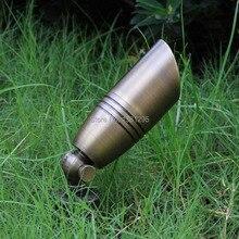 12V низшее Напряжение открытый ландшафтный светильник ing из отлитой под давлением латуни из Точечный светильник бронза светодиодный сад прожектор светильник Точечный светильник MR16 лампочки 3 Вт 5 Вт