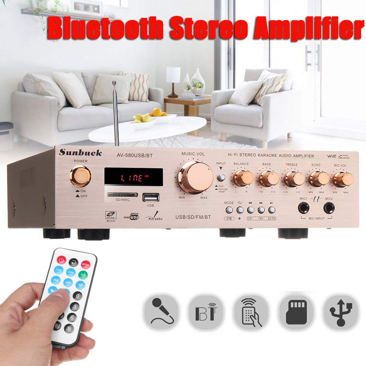 920 W 220 V 5CH AV Stereo Amplificador de Som Surround de Alta Fidelidade do bluetooth FM Karaoke Home Cinema Home Theater Amplificadores
