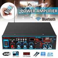 800 W 12 V/220 V 2CH HIFI amplificador de potencia de Audio para coche amplificador de cine en casa Control remoto Subwoofer ESTÉREO audio Amplificador