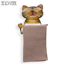 Soporte para papel de cocina gato, soporte de papel higiénico de hierro fundido Vintage para perro, accesorios de decoración del hogar, organizador de baño, estante de pared