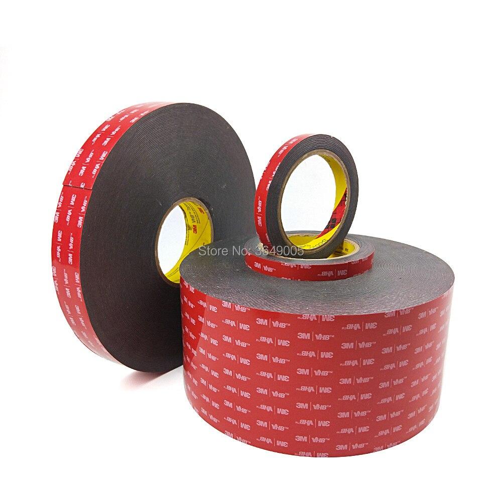 1 rollo 3M VHB 5952 cinta adhesiva de espuma acrílica de doble cara cinta de montaje resistente elegir amplia envío gratis 3m cinta de doble cara cinta adhesiva transparente sin seguimiento pegatinas impermeables fuerte mejora del hogar
