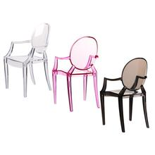 1:6 Scale Doll House Miniature Armchair Plastic Chair Furniture For Children Dolls Accessories Translucent Color