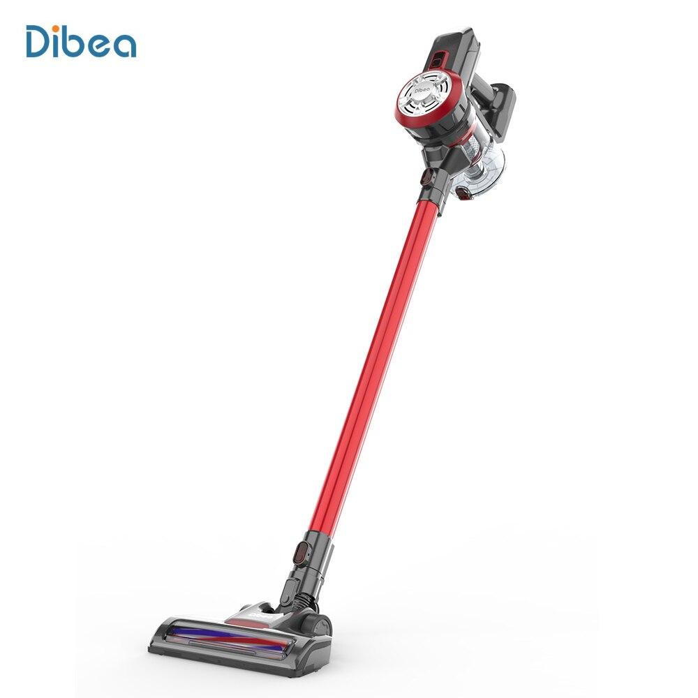 Dibea D18 9000 Pa 2-en-1 aspirateur domestique léger sans fil aspirateur à main avec brosse LED lumières