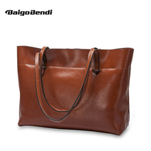 Recommend! Soft Cow leather High-capacity Woman Large Handbag Casual Tote Ladies Office Bag Top-handle