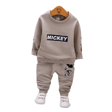 Spring Autumn Baby Boys Clothes Full Sleeve T-shirt And Pants 2pcs Cotton Suits Children Clothing Sets Toddler Brand Tracksuits цена