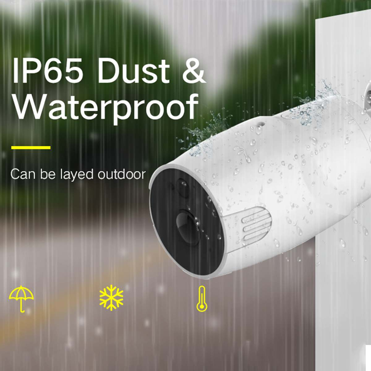1080 Waterproof Mini Wifi Camera Wire-free Battery Camera Night Vision Pir Motion Sensor 6 Ir Leds Solar Wifi Camera