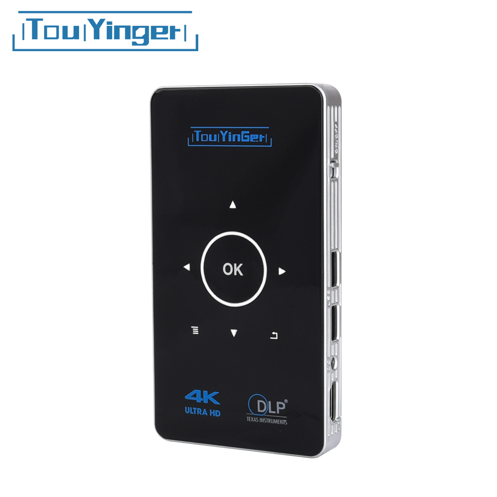 Supporto 4 K 1080 P video Full HD dlp proiettore Portatile Airplay 2 GB di RAM Android 7.1 Touyinger S9 AC3 HDMI wifi Bluetooth Miracast