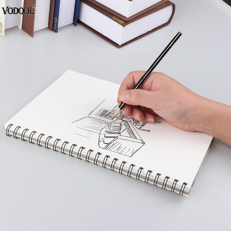 A4 32 Sheets Sketch Book Sketchbook Painting Paper Drawing Graffiti Blank Paper Paint Kits Stationery Art Office School Supplies