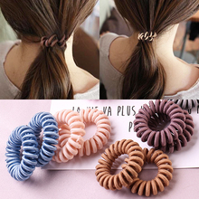 Sale 1PC Elastic Hair Rings Girls Rope Women Hairbands Spiral Telephone Accessories