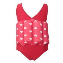 Детский купальник без рукавов с круглым вырезом и фруктовым принтом для мальчиков и девочек, пляжный плавающий летний купальник