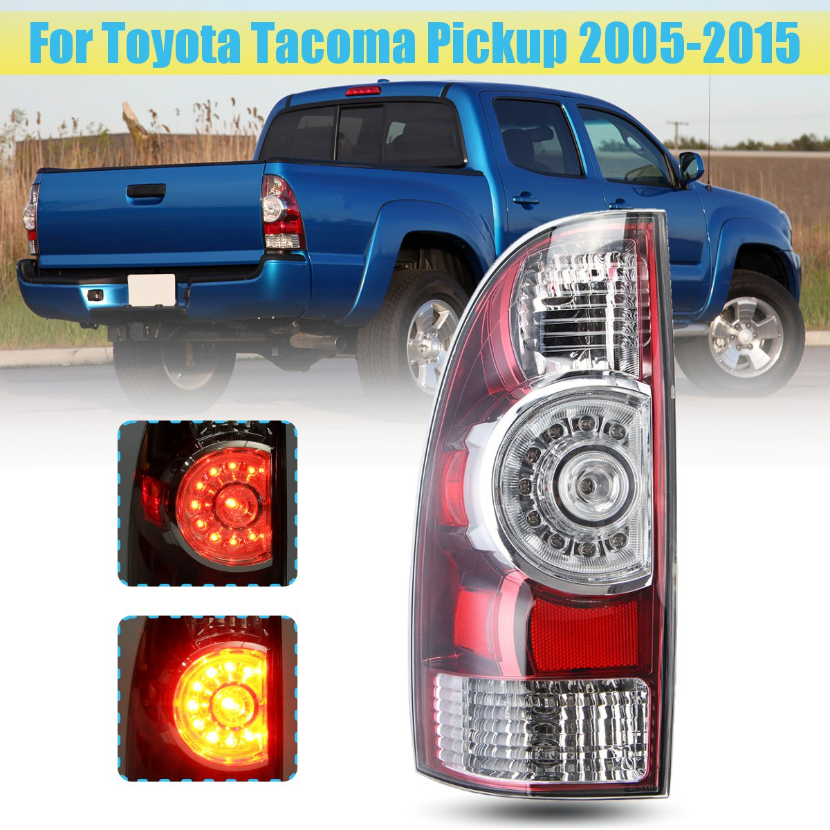 tail light lamp with wire harness led rear tail light brake lamp for toyota tacoma pickup [ 1200 x 1200 Pixel ]