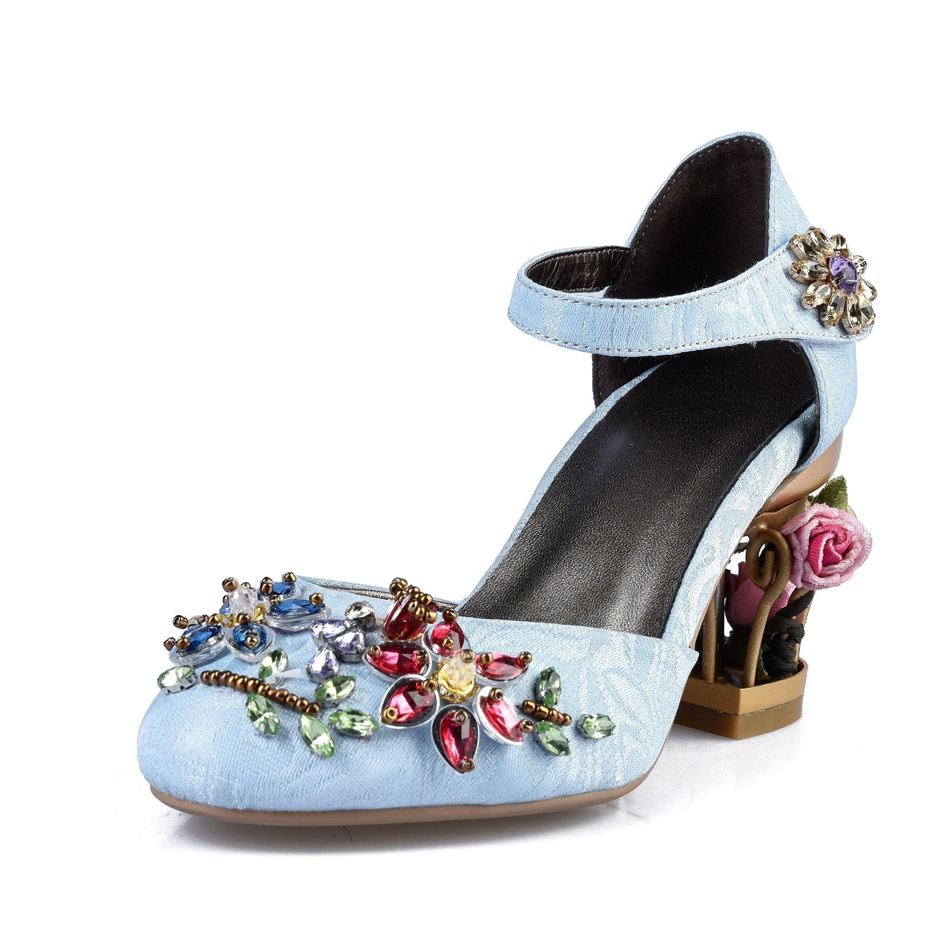 Cage Oiseau Sandales Ciel 2019 Style Chaussures De Raffinement Bleu 13JKFcTl