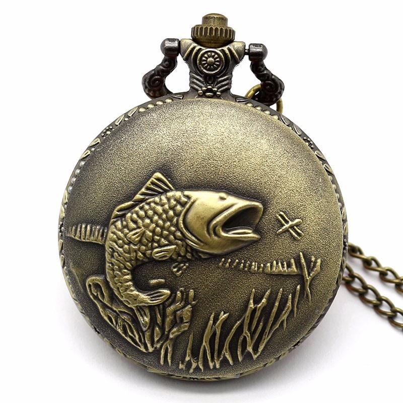 Vintage Commemorative Auspicious Squid Large Pocket Watch