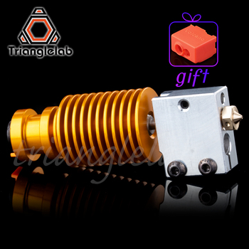 Superior quality gold heatsink v6 Volcano hotend  J-head heater block heat break NOZZLE  for E3D HOTEND for titan extruder недорого
