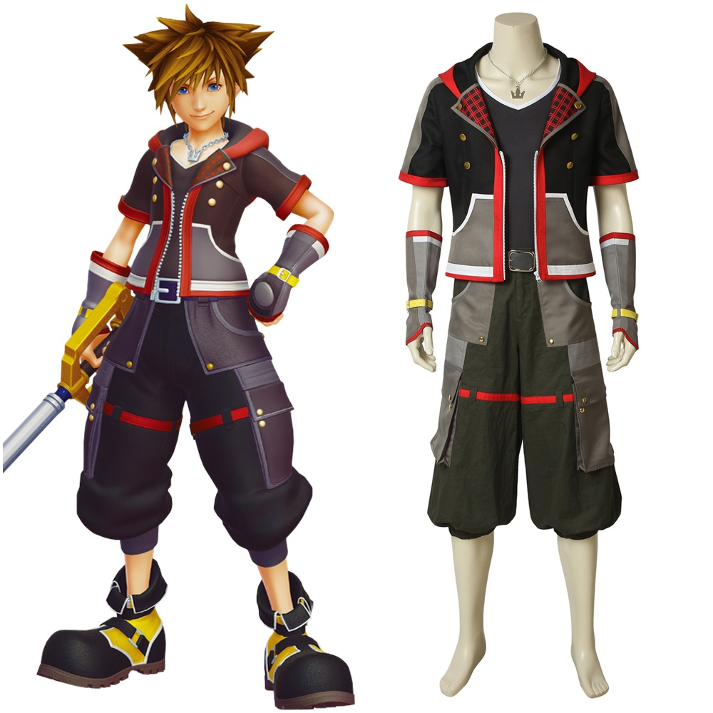 Kingdom Hearts Sora Halloween Town Costume.Us 107 89 Kingdom Hearts 3 Sora Cosplay Costume Jacket Halloween Costumes For Men Adult In Game Costumes From Novelty Special Use On