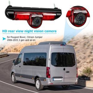 Image 5 - VODOOL 3rd Auto Bremse Licht Rückansicht Kamera IP68 Wasserdichte LED Nachtsicht Kamera Für Citroen Jumper Fiat Ducato Peugeot boxer